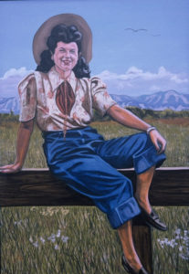Painting of Jewish Cowgirl