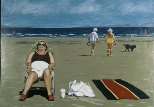 "Qualicum Beach, oil on canvas, 33""x 46"", 1996"