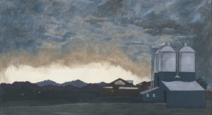 Storm at Silver Square, 27x48, 1991