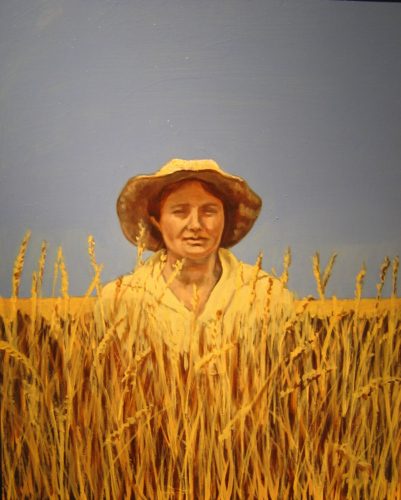Heartland--Beulah in the Wheatfield, 20 x 16, 2008