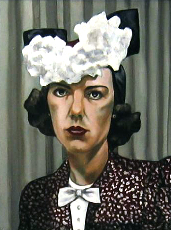 "Virginia: A Life - Virginia in Hat, oil on canvas, 2011,18""x 14"""