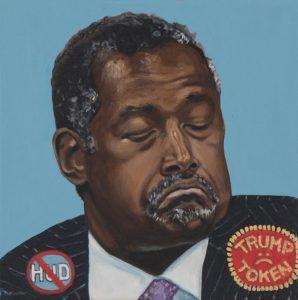 """Trumped! Ben Carson, oil on canvas, 12 x 12"""", 2018"""