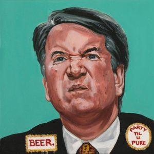 "Trumped!, Brett Kavanaugh, oil on canvas, 12 x 12"", 2018"