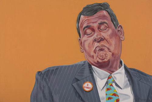 "Trumped!, Chris Christie, oil on canvas, 23 x 34"", 2017"