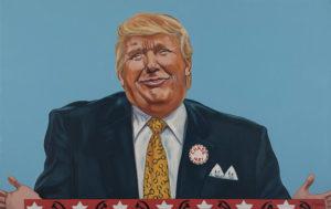 "Trumped!, Donald Trump II, oil on canvas, 28 x 44"", 2017"