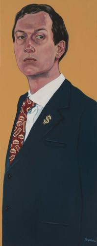 "Trumped!, Jared Kushner, oil on canvas, 39.5 x 15.2"", 2017"