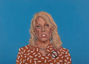 "Trumped!, Kellyanne Conway, oil on canvas, 28 x 38"", 2017"