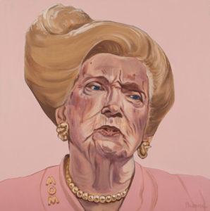 "Trumped!, Mary Trump, oil on canvas, 24 x 24"", 2018"