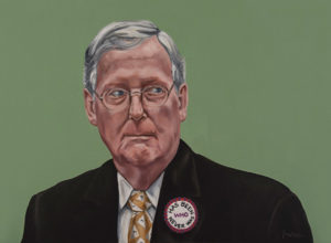 """Trumped!, Mitch McConnell, oil on canvas, 22 x 30"""", 2017"""