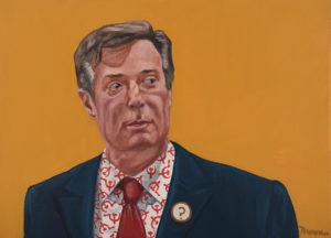 "Trumped!, Paul Manafort, oil on canvas, 22 x 30"", 2017"