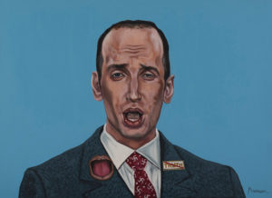 """Trumped!, Stephen Miller, oil on canvas, 22 x 30"""", 2018"""