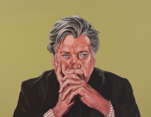 "Trumped!, Steve Bannon, oil on canvas, 28 x 36"", 2017"