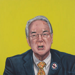 """Trumped!, Tom Price, oil on canvas, 24 x 24"""", 2017"""