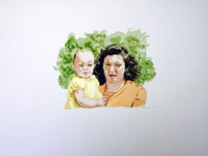 First Born, 12 x 16, watercolor, 2015
