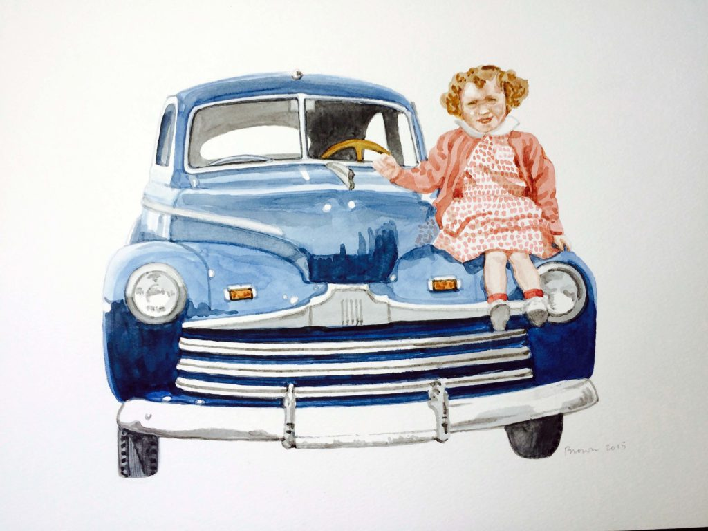 Ford, 12 x 16, watercolor, 2015
