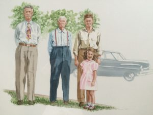 Four Generations, 22x30, watercolor, 2015